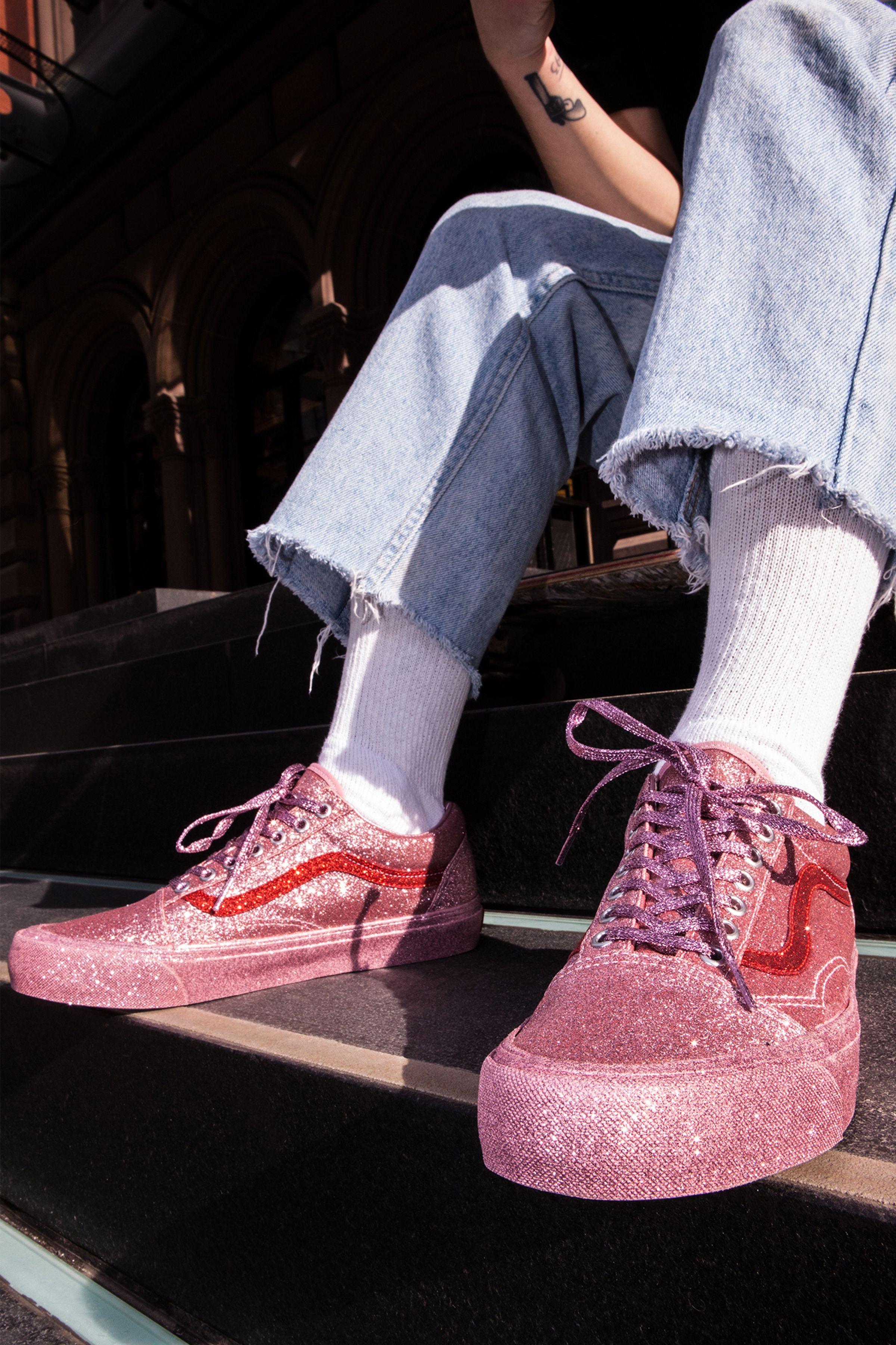 Sparkly vans, Glitter vans, Glittery shoes