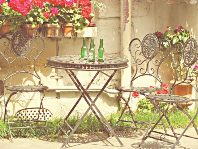 schmiedeeiserne gartenmobel, patio bereich » 26 schmiedeeiserne gartenmöbel – graziöse highlights, Design ideen