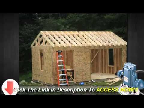 10x12 Storage Shed Plans Learn How To Build A Shed On A Budget Diy Storage Building Shed Design Shed Building Plans