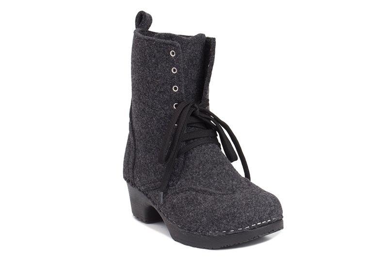 d0f62b036d06 Clog Boot in Grey Felt - Troentorp Clogs