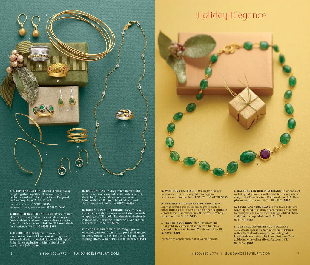 Catalog Spree  Sundance  Holiday Jewelry  Catalog   Pinteres