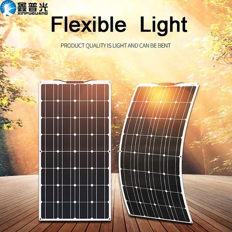 Mpn 100w 16vbrand Xinpuguangflexible Solar Panel 100w 12v Battery Charger Kit Monocrystalline Solar Cel In 2020 Solar Power Panels Flexible Solar Panels Solar Panels