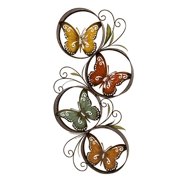 Butterfly Metal Wall Decor | Metal walls, Wall decor and Butterfly