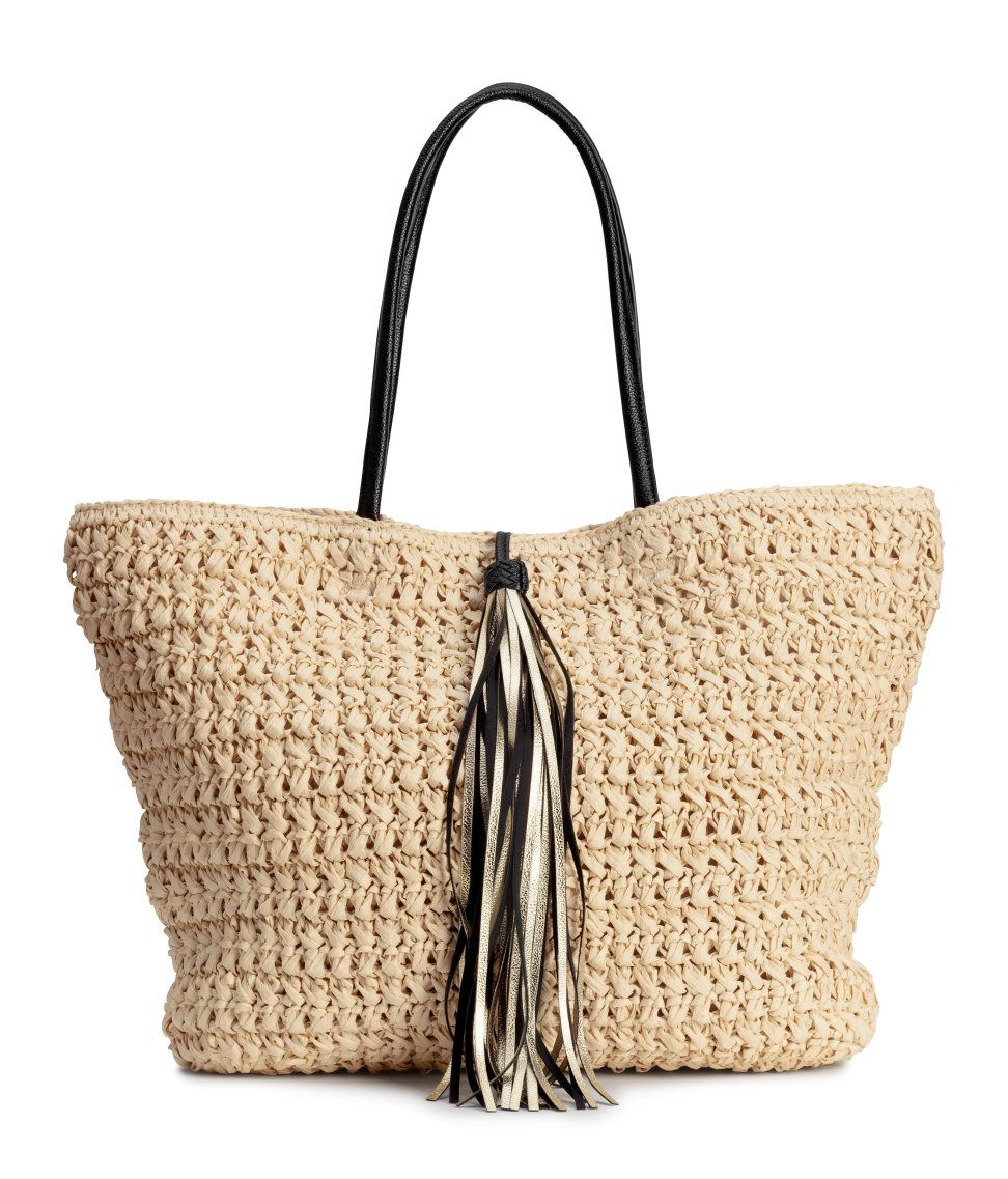 074db200e Bag in braided paper straw.   H&M Accessories   My Style Overall ...