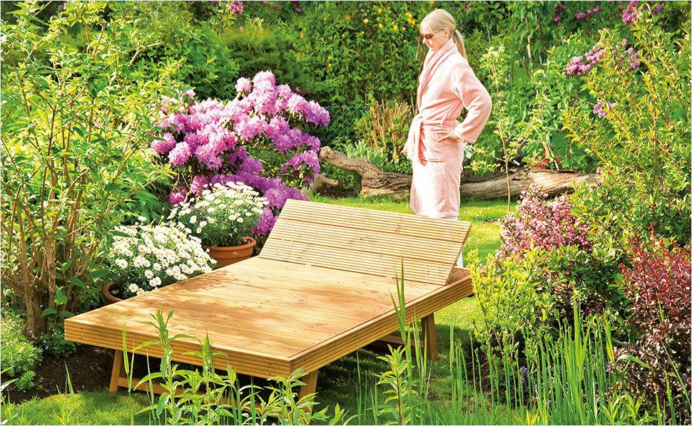 Gartenliege selber bauen – Anleitung von HORNBACH | Diy ...