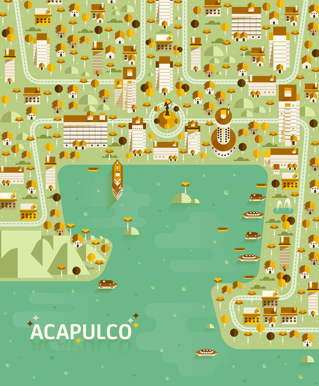 Aldo Crusher Cosmpolis Pt 3 Acapulco map maps Pinterest