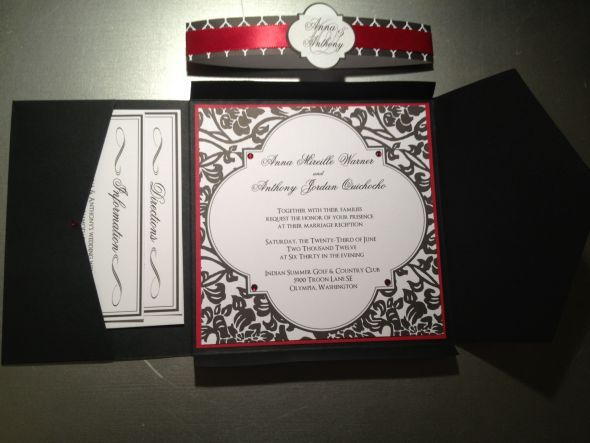 1000 images about Red black wedding ideas – Black Red and White Wedding Invitations