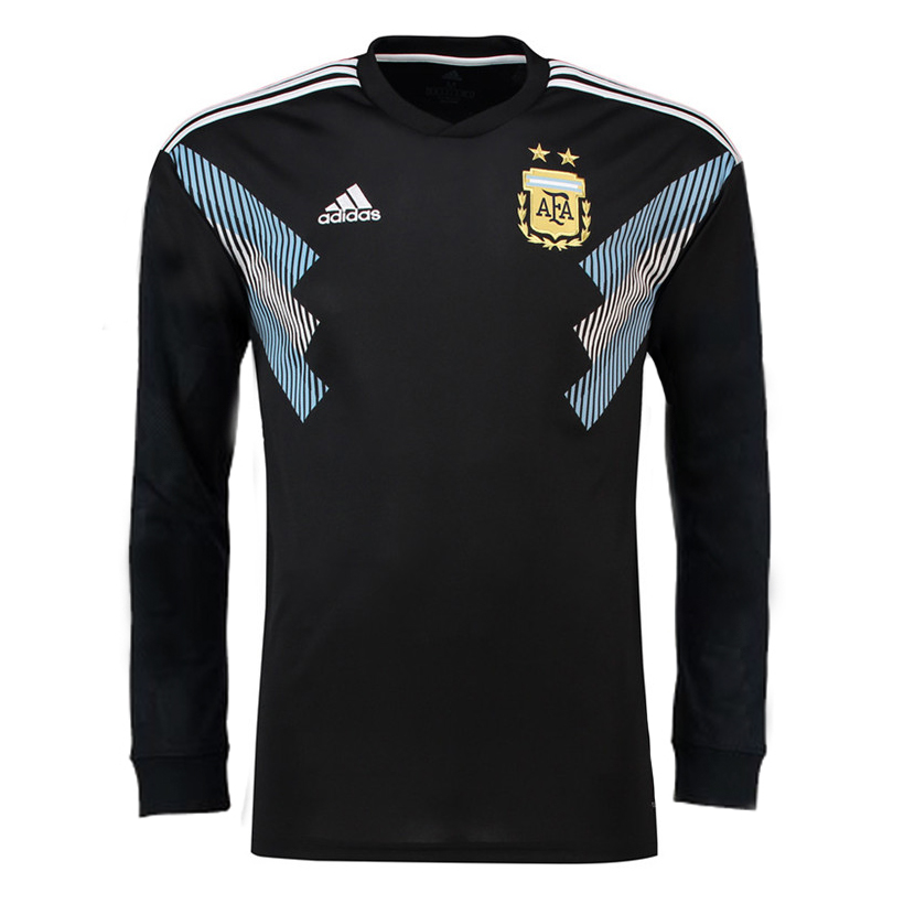 76ee8e313 Argentina 2018 World Cup Away Men Long Sleeve Soccer Jersey Personalized  Name and Number - zorrojersey