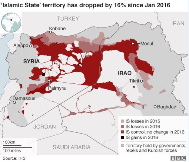 IS 'loses over a quarter of territory' | Maps of Daesh | Map, Syria