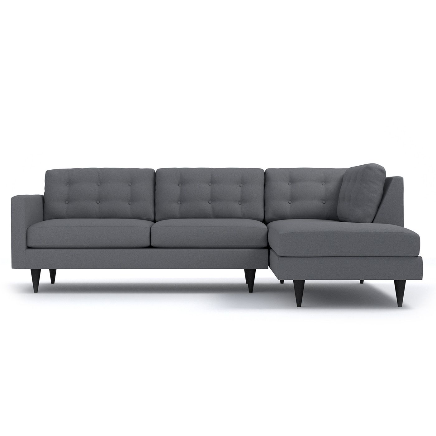 The Logan Two Piece Sectional s sleek silhouette is a wel e