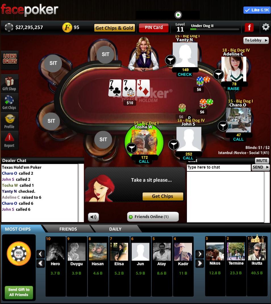 Facepoker Graphics Is Like Old Zynga Texas Holdem Poker Oyun
