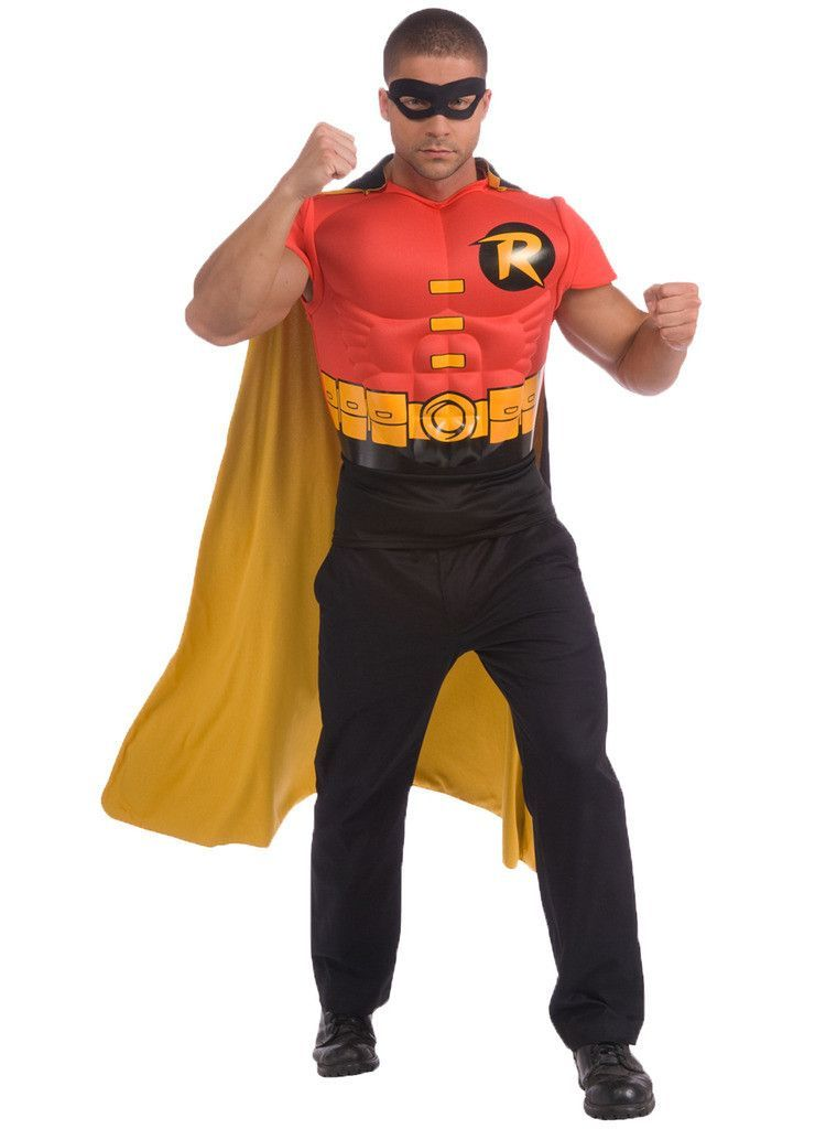 7383414df38 DC Comics Robin Muscle Chest Adult Costume Kit