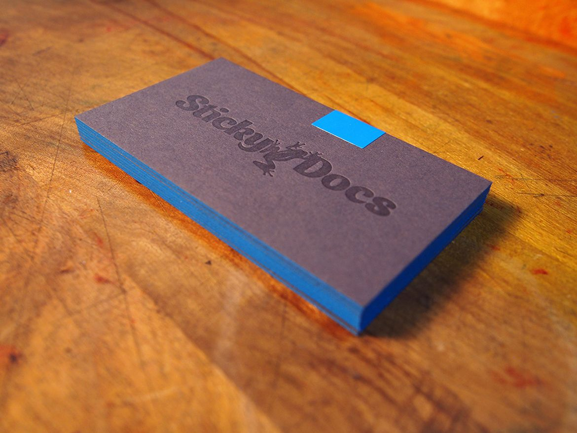 Customizable business card / by Sticky Docs (design) and Genghis Kern (print)