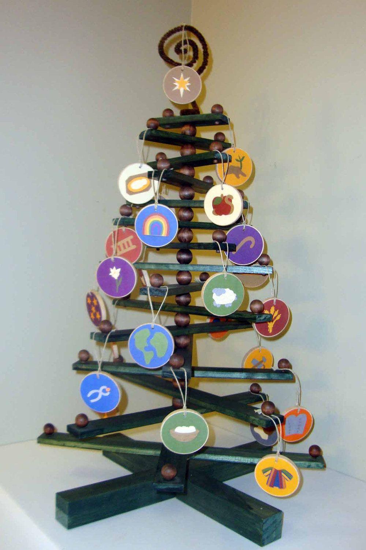 Wood Christmas Tree Ornament Display Beaded Wood Christmas Etsy Jesse Tree Ornaments Felt Christmas Tree Cool Christmas Trees