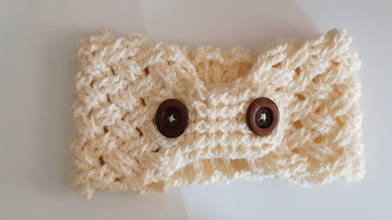 Banda diadema a crochet tejido a ganchillo tutorial - Diademas de ganchillo ...