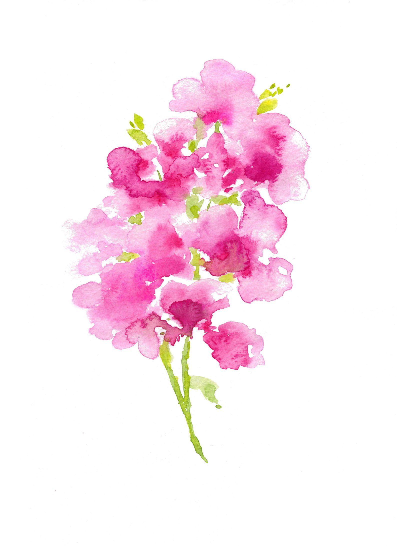Contemporary Floral Watercolor Digital Download Original Abstract