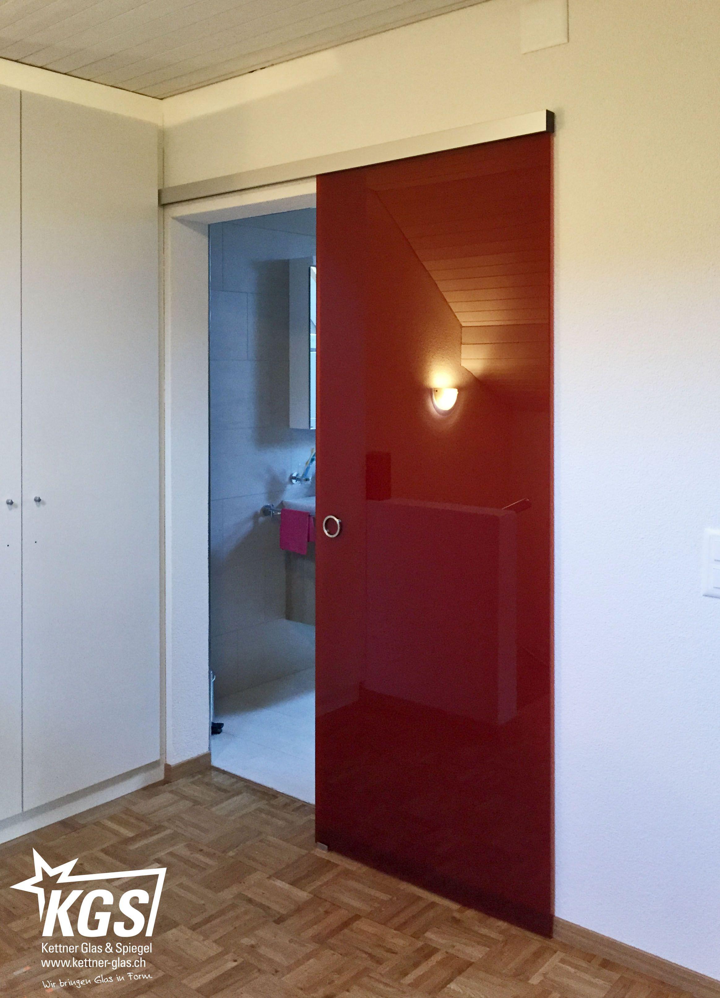 glasschiebet r mit roten design folien f r ein einzigartiges glas erlebnis glast ren. Black Bedroom Furniture Sets. Home Design Ideas