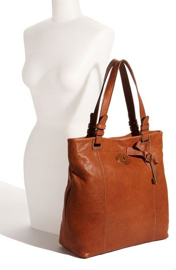 Would make a great teacher bag! Fossil  Penelope  Glazed Leather Tote