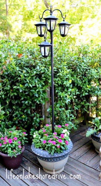 Diy Solar Lights Lamp Post Luz Solar Jardim Diy Jardinagem E