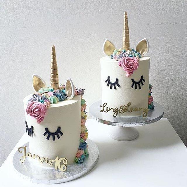 Pretty mini unicorn cakes By kekandco cake cakeart cakeboss