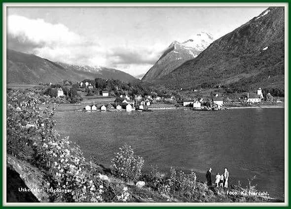 Hordaland fylke Kvinnherad kommune i Hardanger Uskedalen utg K. Nordahl tidlig 1900-tall