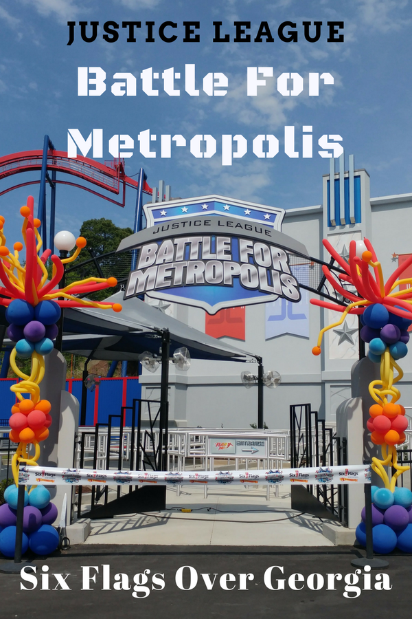 Six Flags Over Georgia New Justice League Battle For Metropolis Ride Mom S Magical Miles Six Flags New Justice League Georgia