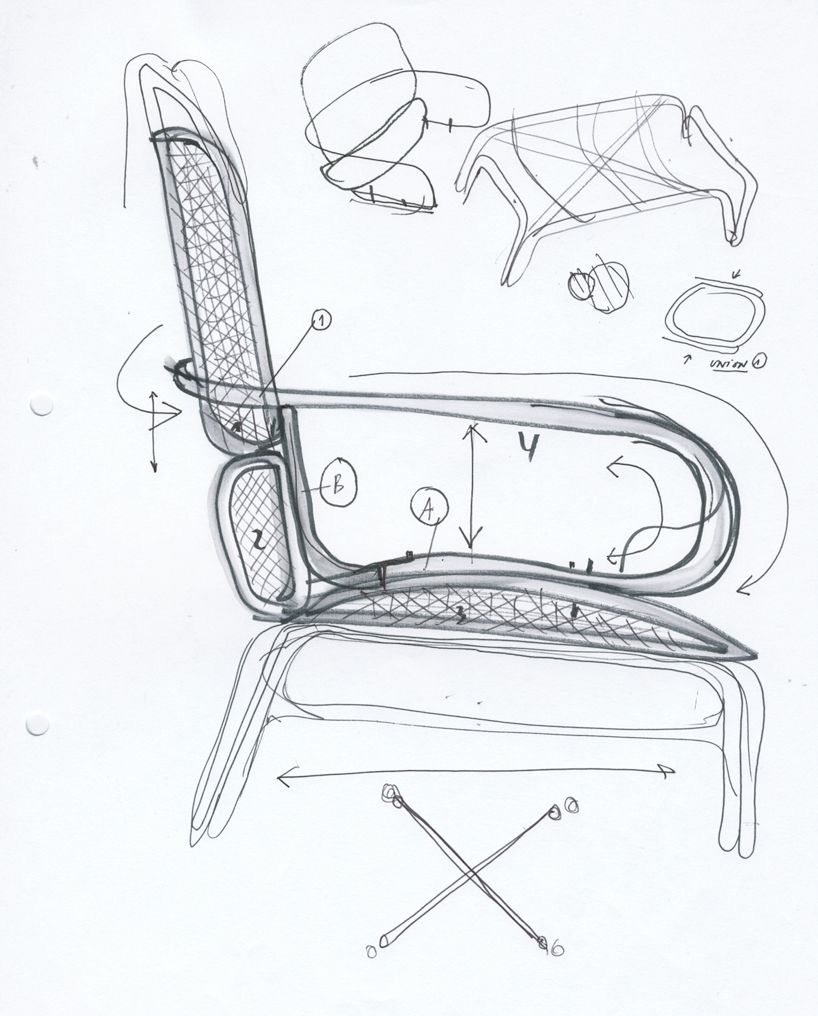 Jaime Hayon Creates Mediterranean Frames Rattan Collection For Expormim Furniture Sketch Chair Drawing Design Sketch