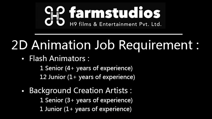 Job Requirements of 2D Flash Animator and BG Artist | 2d and Motion ...