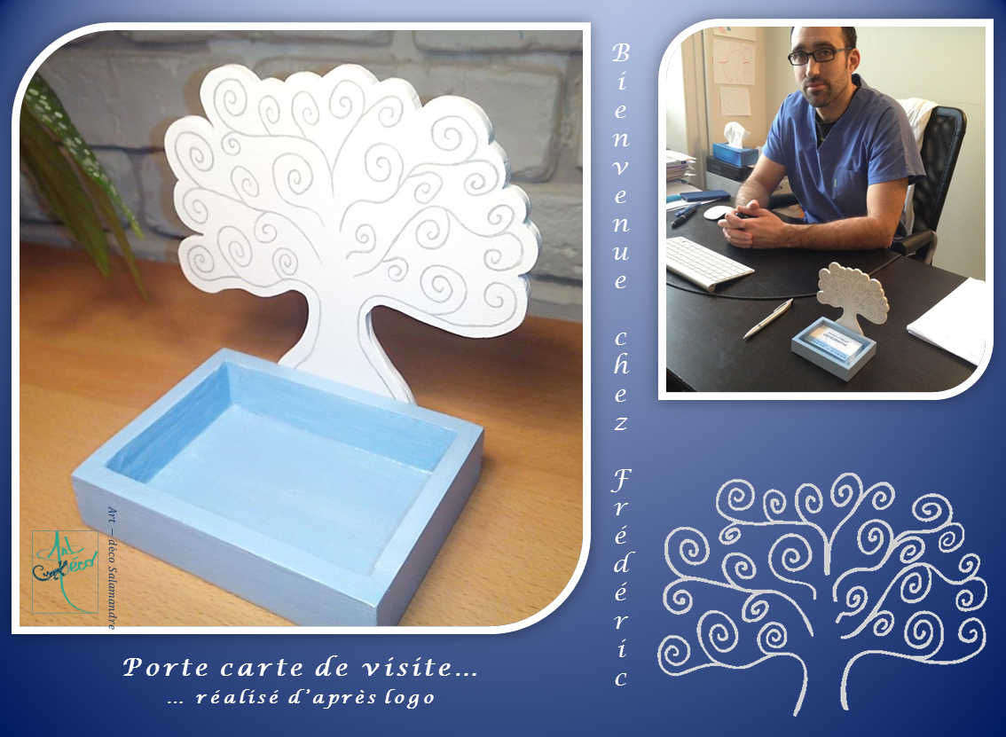 Porte carte de visite dans le cabinet de Frédéric