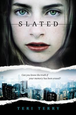 """""""In a future England, sixteen-year-old Kyla is one of the """"slated,"""" those whose memories have been erased usually because they have committed serious crimes, but as she observes more and more strange events, she also gains more memories which put her and her boyfriend, Ben in danger."""""""