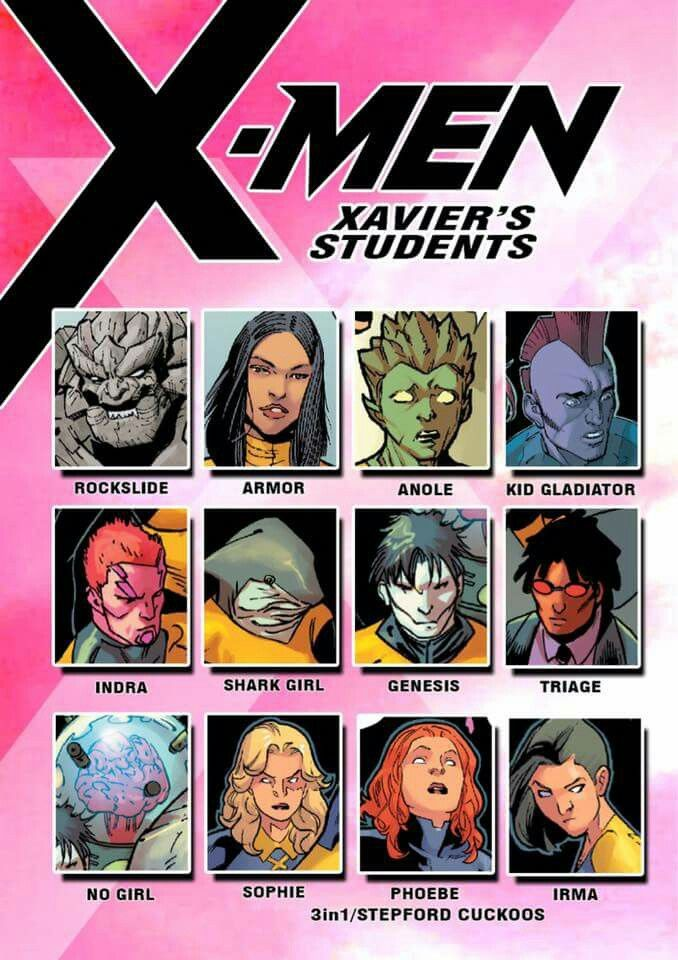 X Men Xavier S Students Marvel And Dc Characters Superhero Comic Marvel Characters
