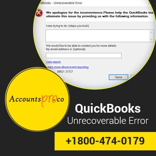 Fix QuickBooks Unrecoverable Error while Trying to access company