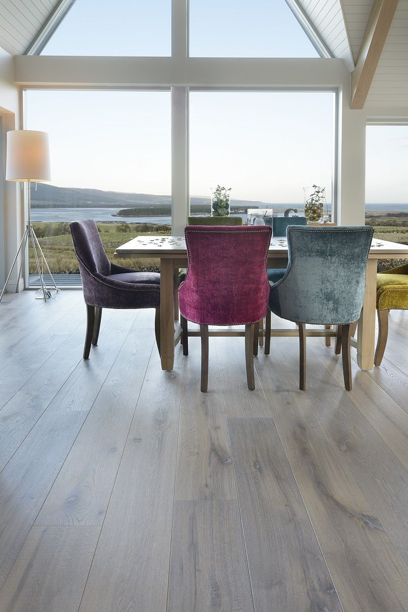 Engineered 225mm wide brushed character grade oak flooring in brushed character grade oak flooring in smoked white colour private home sutherland blueprint architecture richard mackenzie ltd malvernweather Choice Image