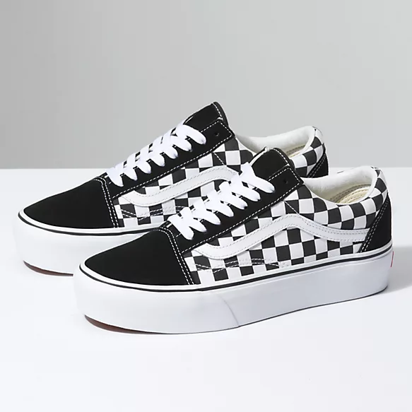 Checkerboard Old Skool Platform | Shop Classic Shoes At Vans ...