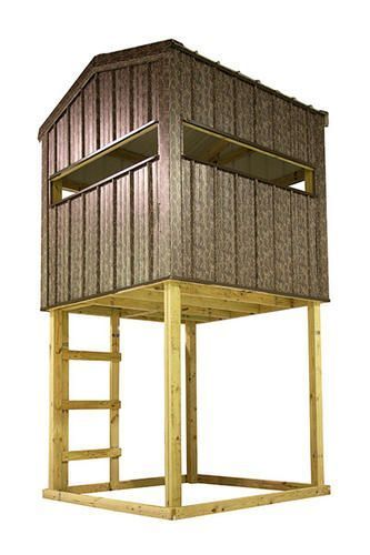 Midwest manufacturing 6 39 w x 6 39 d hunting blind at menards for Building deer blind windows