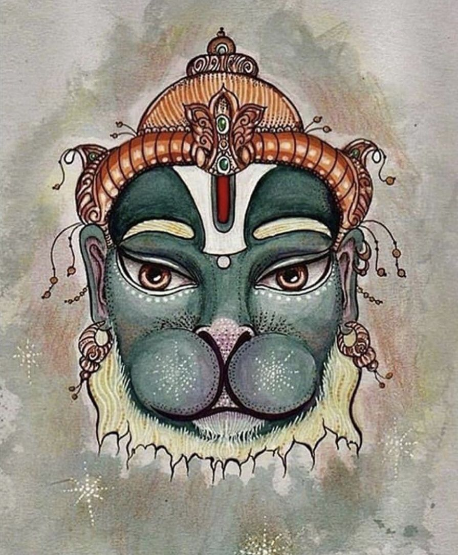 ae35d1912c2a8 Hanuman by Suresh Dhawan   Bhagwan in 2019   Hanuman chalisa, Ram ...