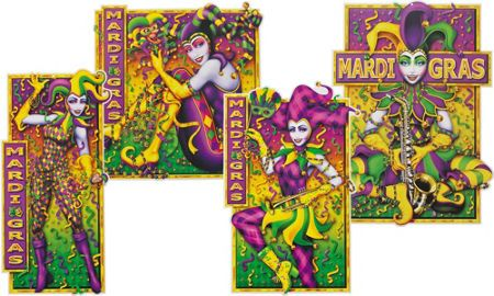 Mardi Gras Decorations - Party City Lots of stuff for walls ...