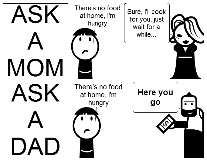 LOL!! 12 FUNNY Mom Vs Dad Memes!!! | Mom humor, Dad humor
