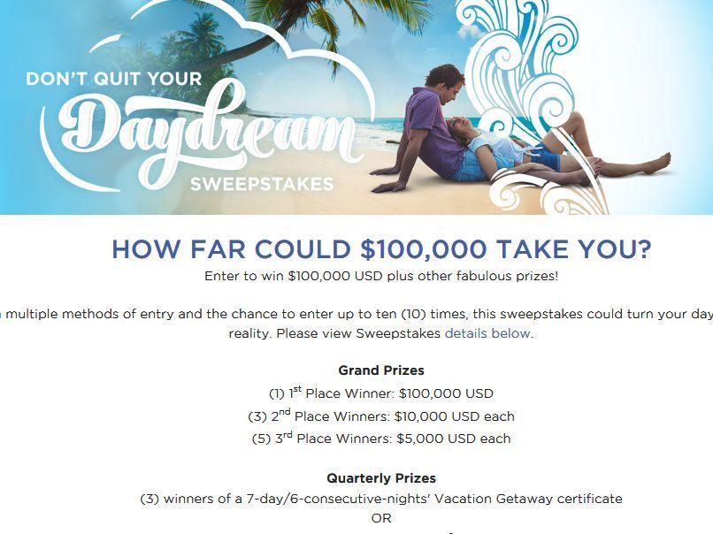 Multiple winner sweepstakes cash