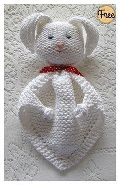 Photo of Bunny Blanket Buddy Free Knitting Pattern