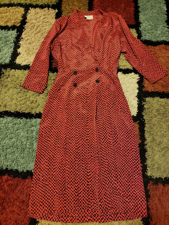 Vintage Red Dress Jonathan Martin Circa 1970 Size 7 8 Etsy Vintage Red Dress Vintage Outfits Retro Dress [ 3000 x 2250 Pixel ]