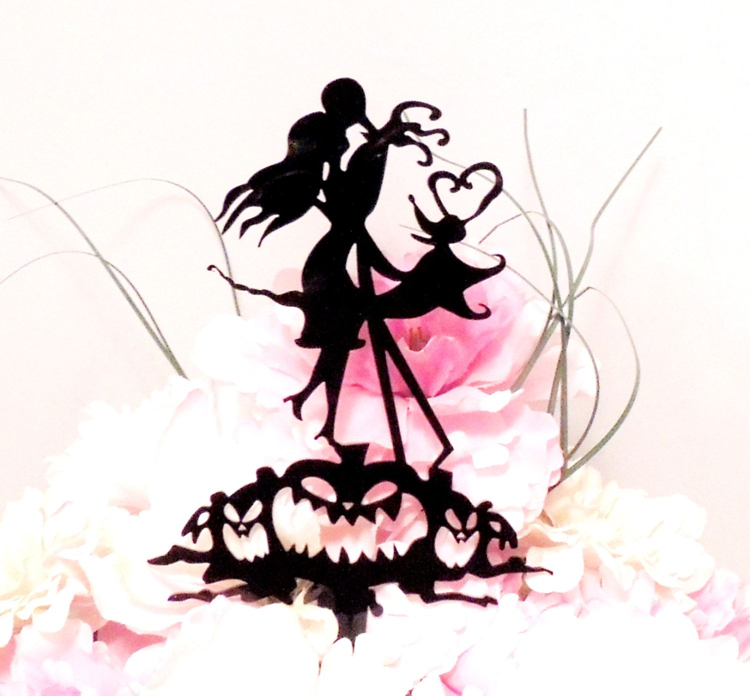Jack and Sally Wedding Cake Topper by YourPersonalEngraver on Etsy ...