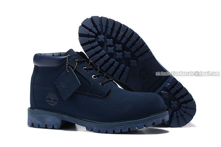 new style 40103 4de2d Timberland Women Premium Waterproof Chukka Boots Navy Blue   75.00