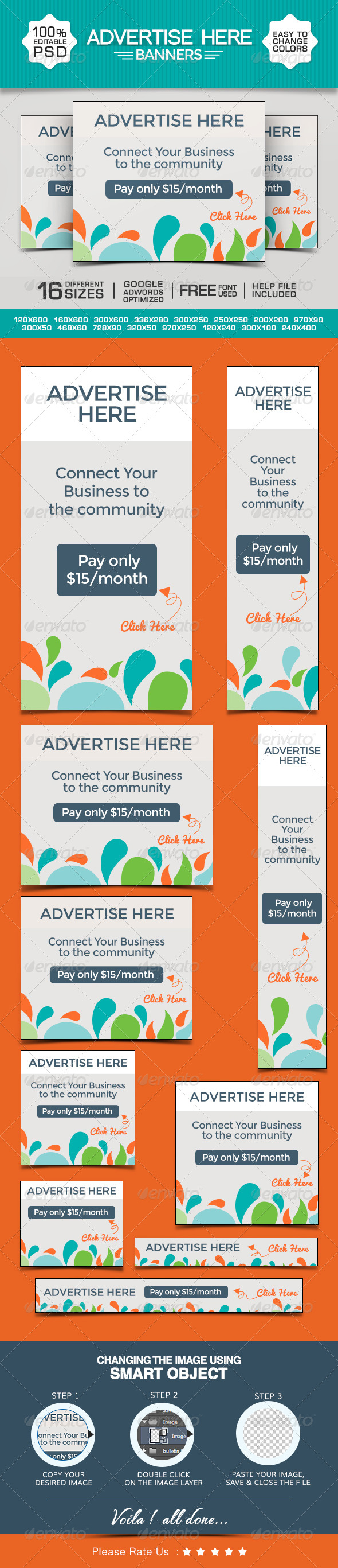 Advertise Here Banners Template PSD | Buy and Download: http://graphicriver.net/item/advertise-here-banners/8644833?WT.ac=category_thumb&WT.z_author=doto&ref=ksioks