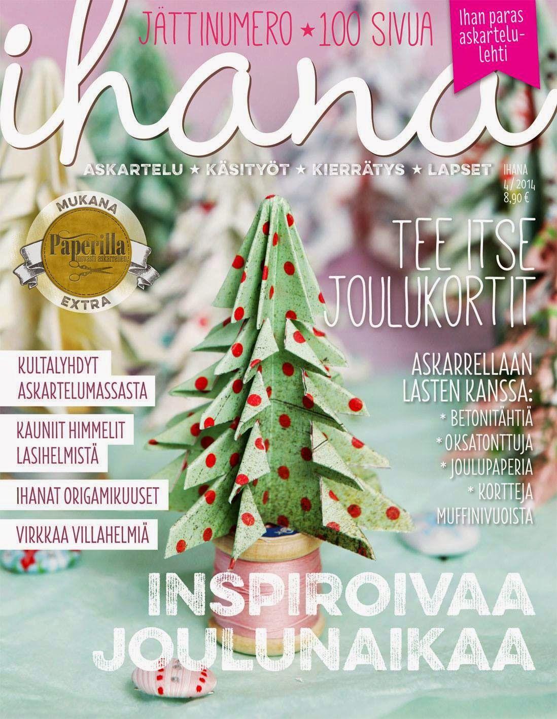 My lettering project is in Ihana-arts&crafts magazine------ Kirjainprojektini on uusimmassa 4/2014 Ihana-lehdessä :)