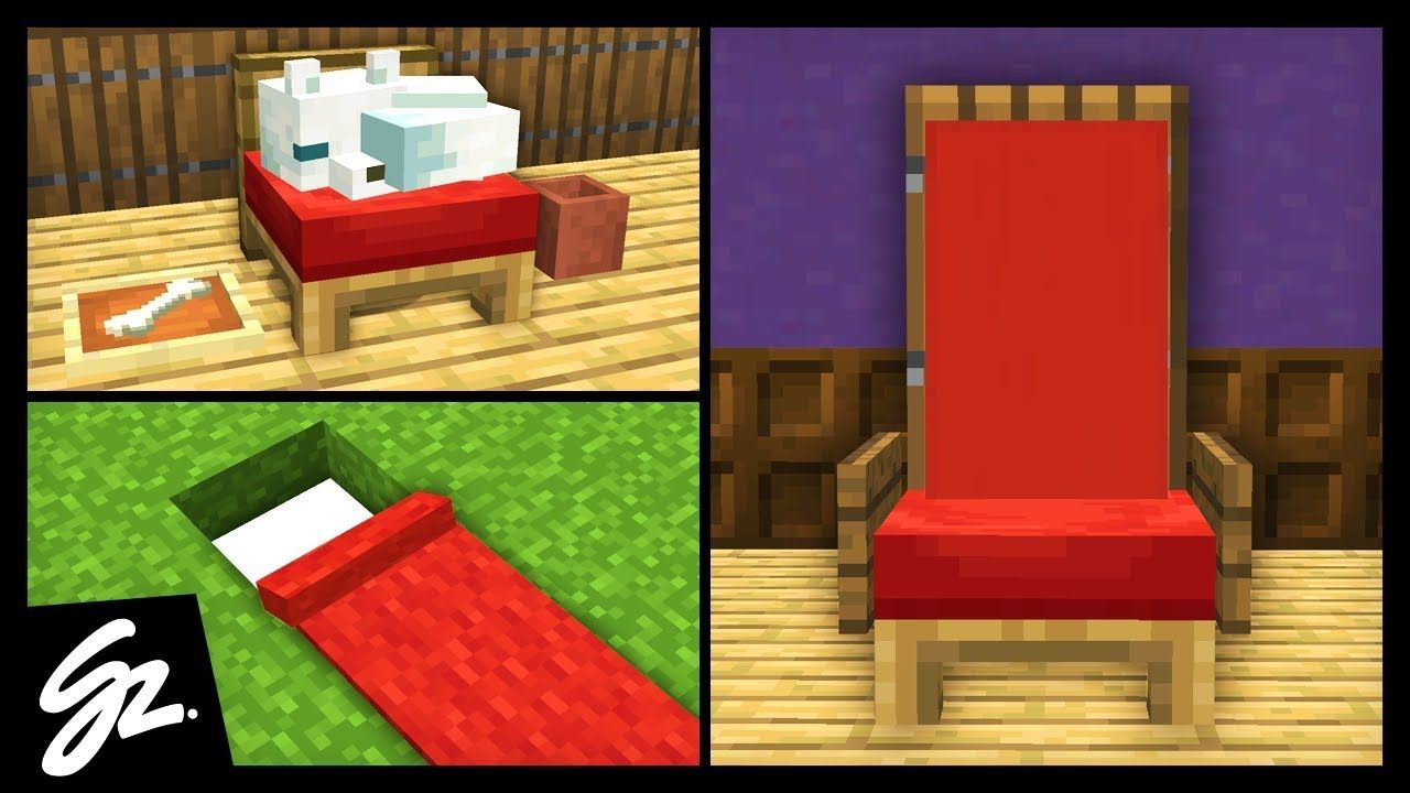 10 Minecraft Bed Build Hacks Youtube Minecraft Room Minecraft Designs Minecraft Couch