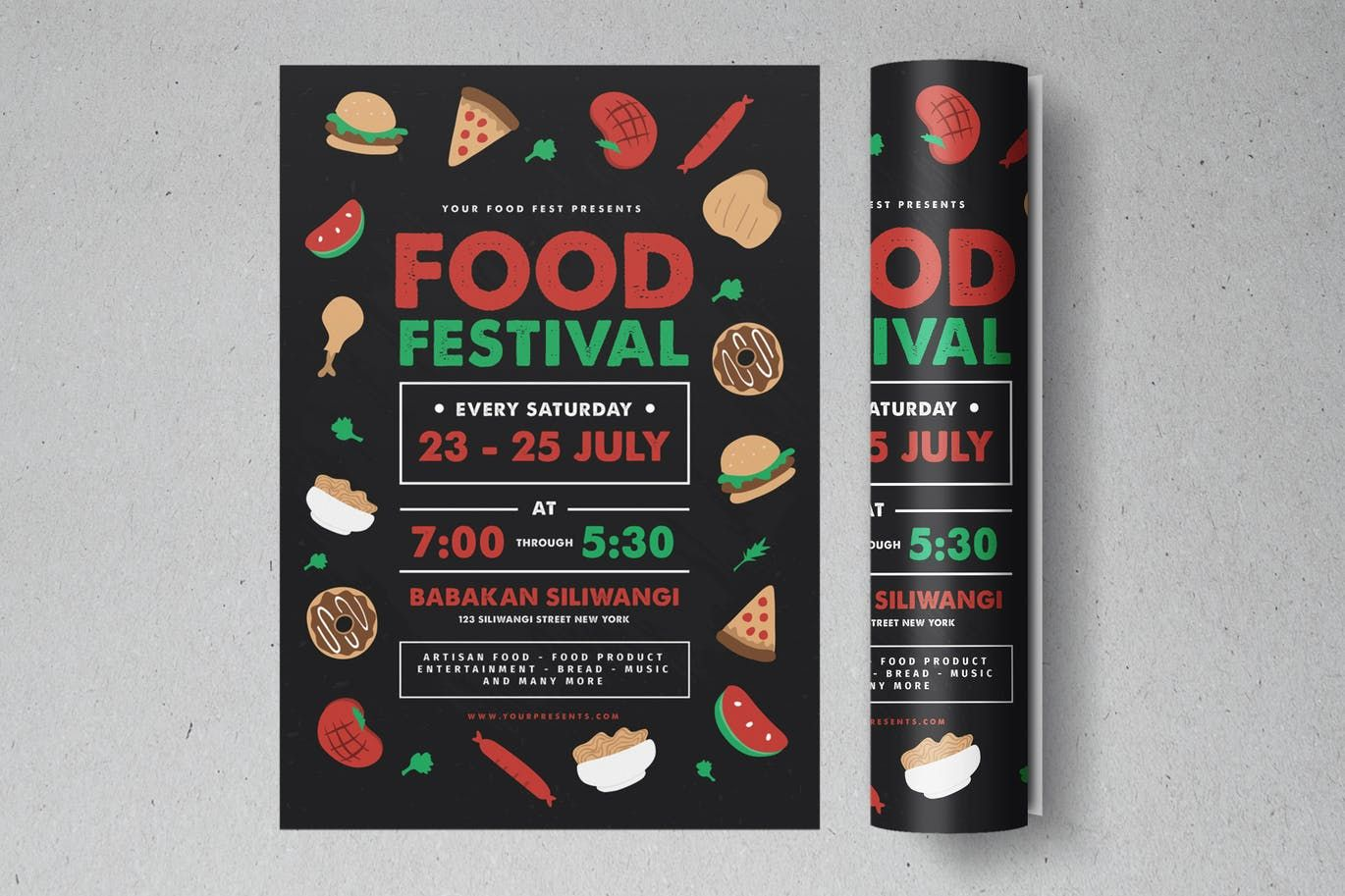 food festival flyer template psd ai flyer templates pinterest