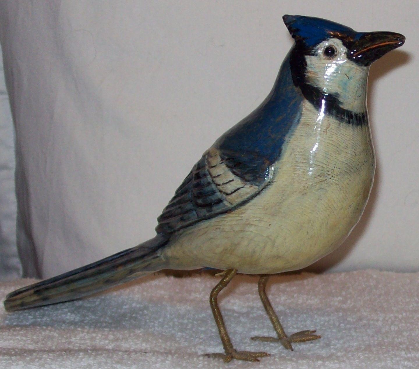 Yvon Cote Bluebird Folk Art Antique Collection Antiques
