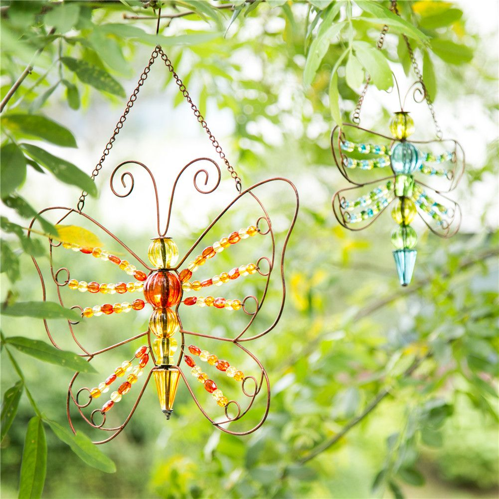 Iron Beaded Butterfly/ Dragonfly Wall Hanging Decor | Spring Fling ...