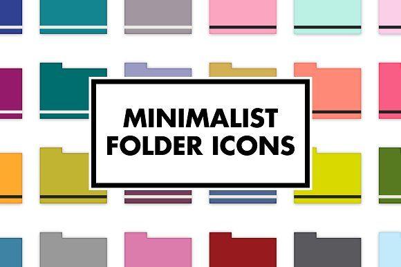 Minimalist Folder Icons Folder Icon Desktop Icons Icon